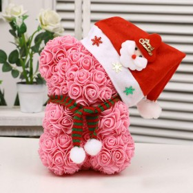 Ours en Roses Noël - Rose
