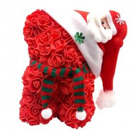 Ours en Roses Noël - Rouge
