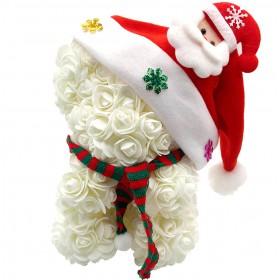 Ours en Roses Noël - Blanc