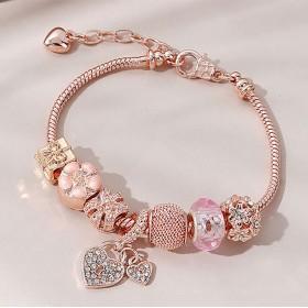 Bracelet Charms Gold COEUR