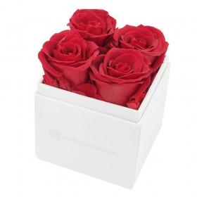 Coffret 4 Roses Rouges