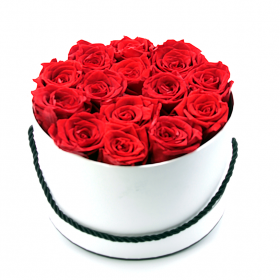 Coffret 14 roses