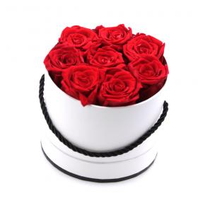 Coffret 8 roses