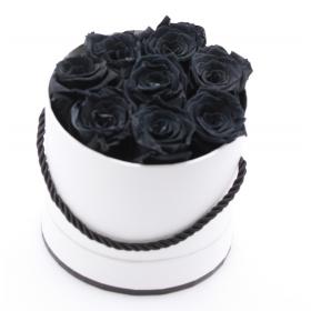 Coffret 8 roses -noires