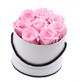 Coffret 8 roses -roses