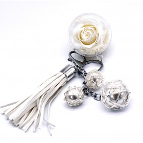 Porte clef Rose Eternelle