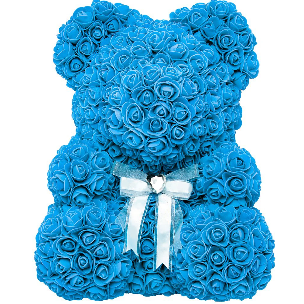 Ours en Roses - Turquoise