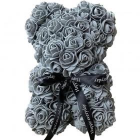 Ours en Roses - Gris Souris