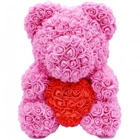 Ours en Roses - Rose Cœur...