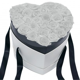 Cœur Roses Blanches